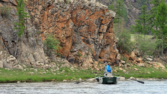 Fly Fishing for Taimen:  Drift Boat Fishing in the Mongolian Wilderness