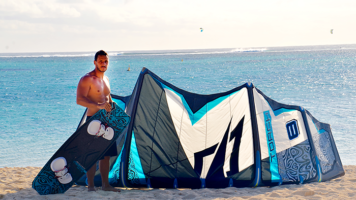 """Fabio Tomi: If you could kitesurf anywhere, where would  it be and why?  """"Le Morne,  Mauritius. It is the perfect playground."""""""