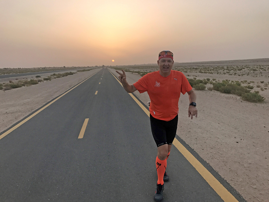 How far can you run in the Desert When it's 50C?