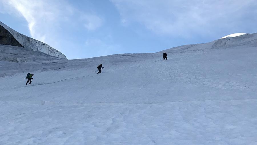 "Summiting ""Gran Paradiso"" in Italy"