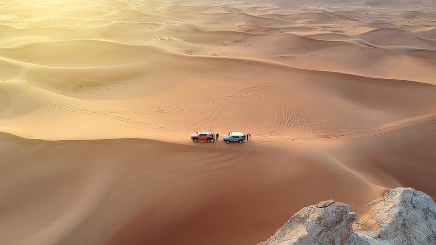 A Strange Meeting in the Desert