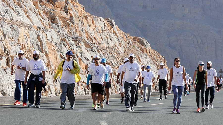 Nakheel conquers Jebel Jais for Dubai Fitness Challenge
