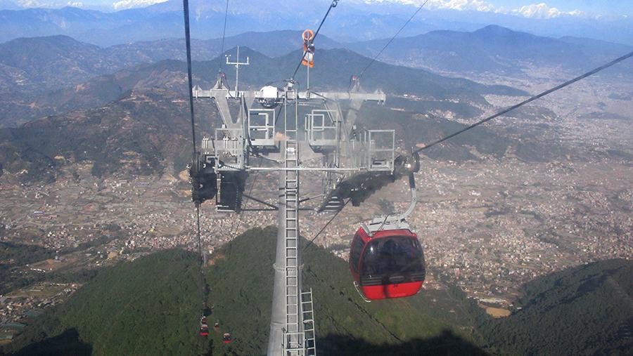 Kathmandu's Cable Car at Chandragiri Hills