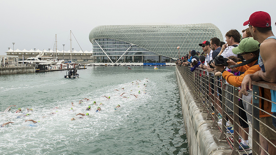 Daman's Tri Fit Challenge Participants Hit the ITU World Triathlon Abu Dhabi