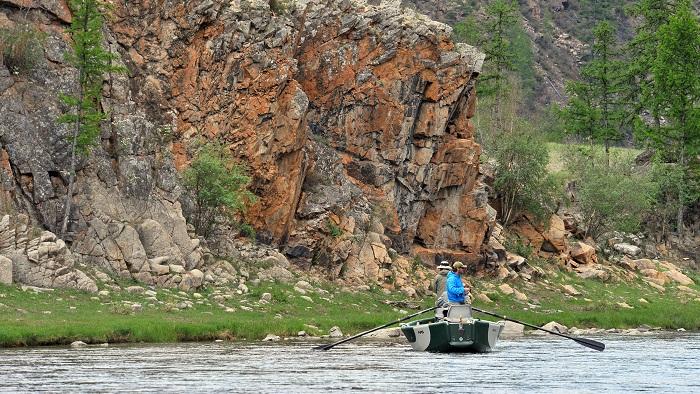 Fly Fishing for Taimen:  Drift Boat Fishing in the Mongolian Wilderness