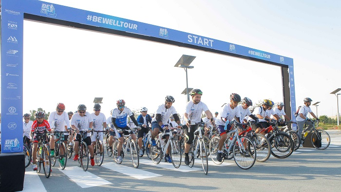 Hundreds of Cyclists Take Part in the Inaugural BeWell Cycle Tour UAE