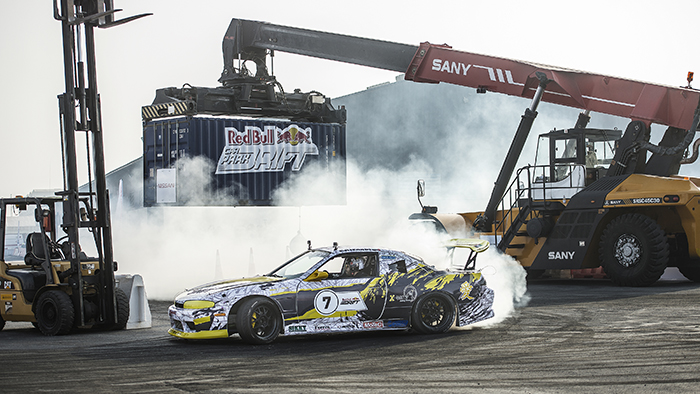 Red Bull Car Park Drift Clash in Ajman Port Ends with Al Zaabi on Top
