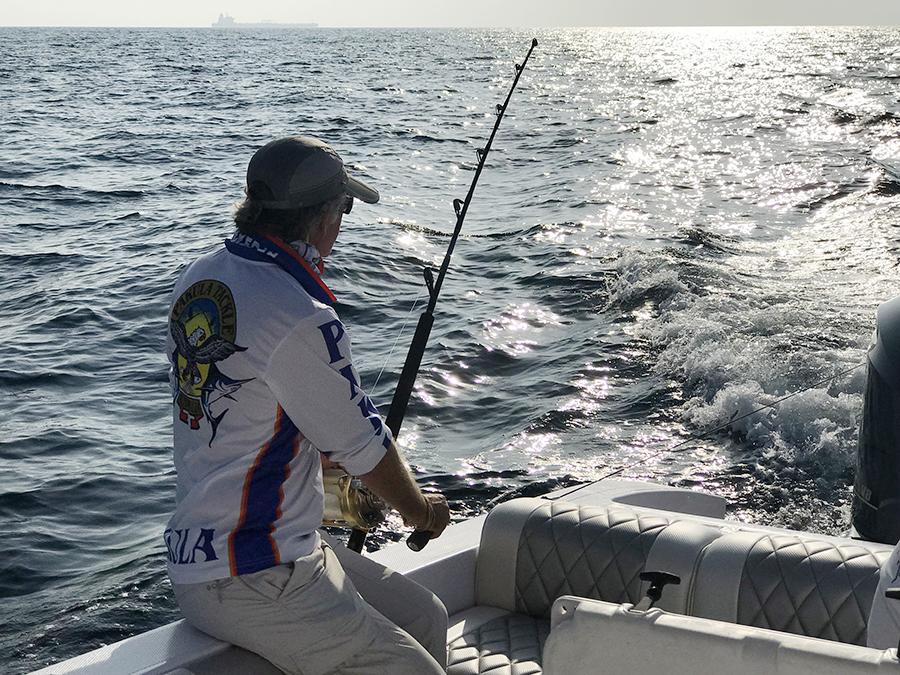 Peter teaching fishing
