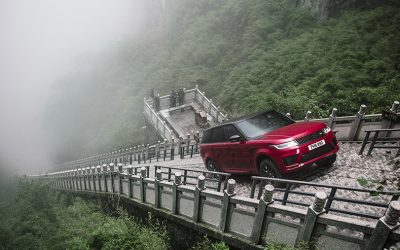 Range Rover Sport is First SUV to Climb to Heaven's Gate