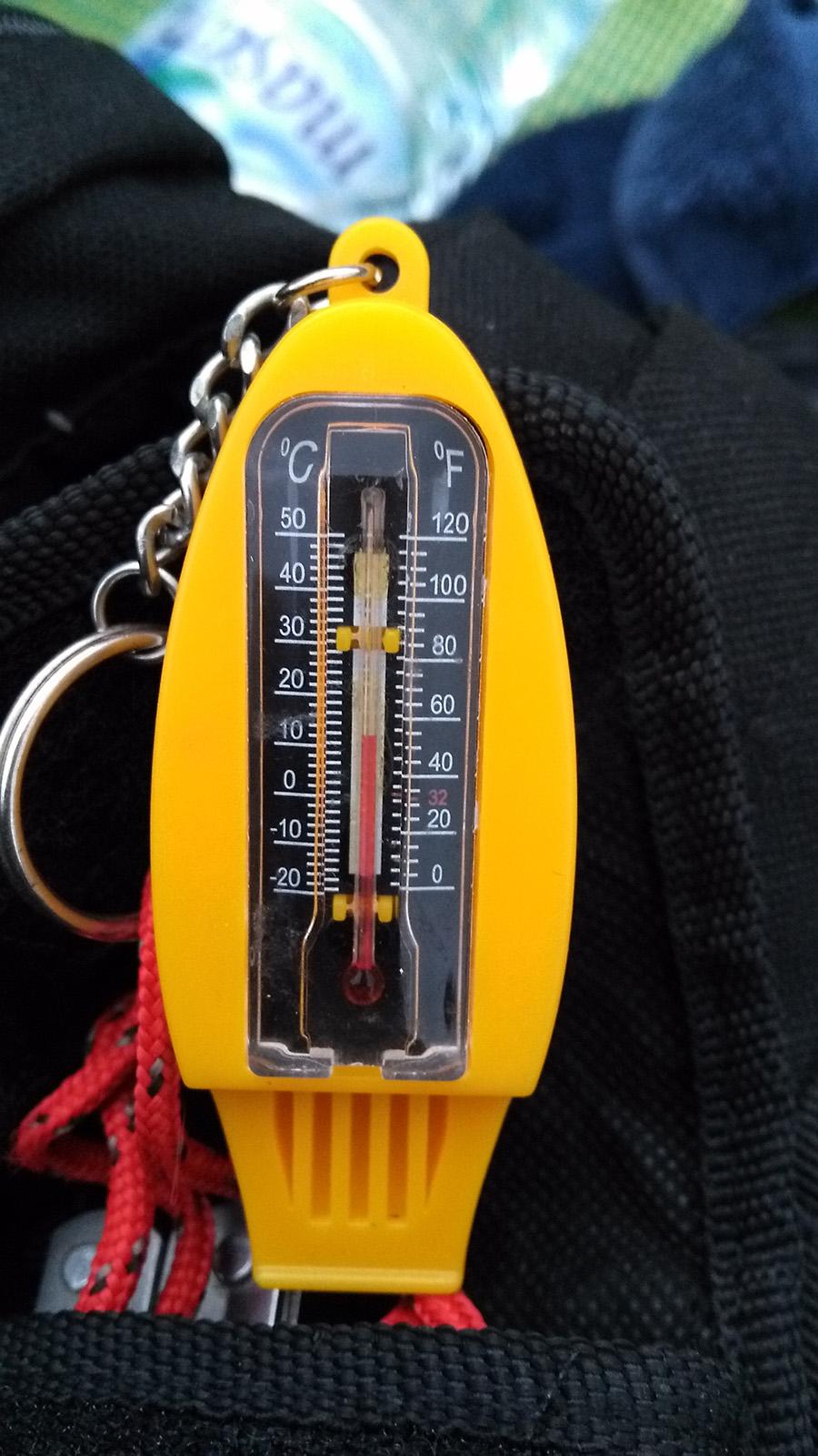 temperature in camp
