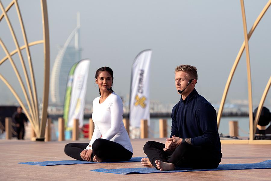 Jacob Manning and Esha Gupta open XYoga Dubai yoga