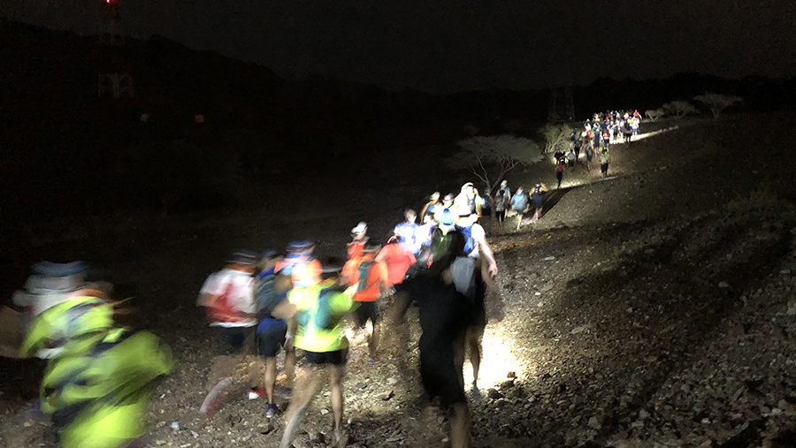 1km in darkness
