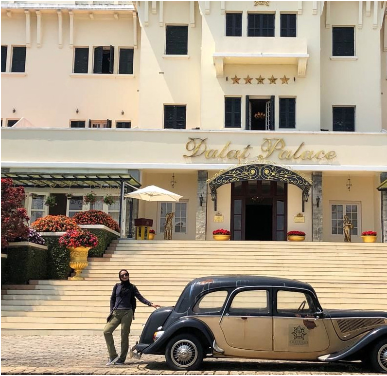 Awesome to be back here Quick pose at legendary Dalat Palace