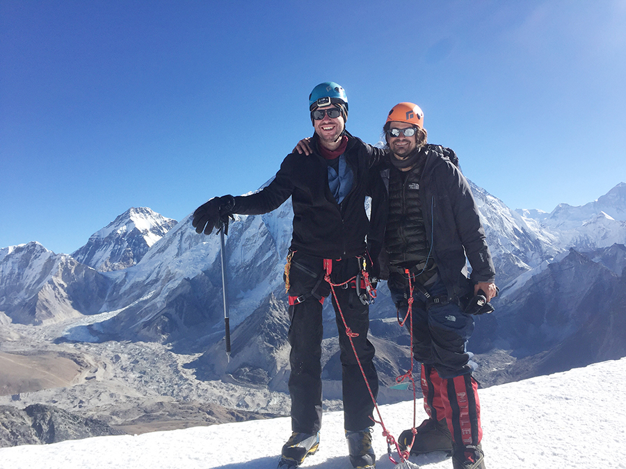 Credit - Martin Boese - Mike on the left, Martin on the right on Labouche summit
