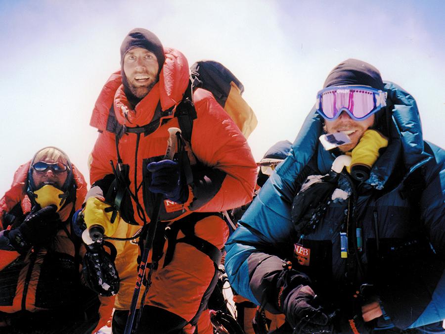 Erik Weihenmayer on summit.