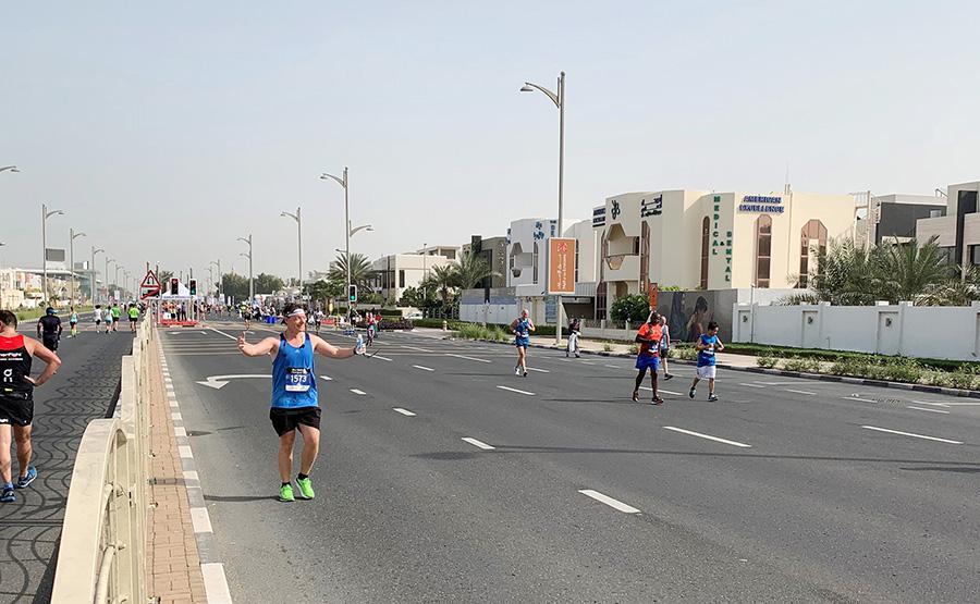 Harry enjoying his Dubai training run
