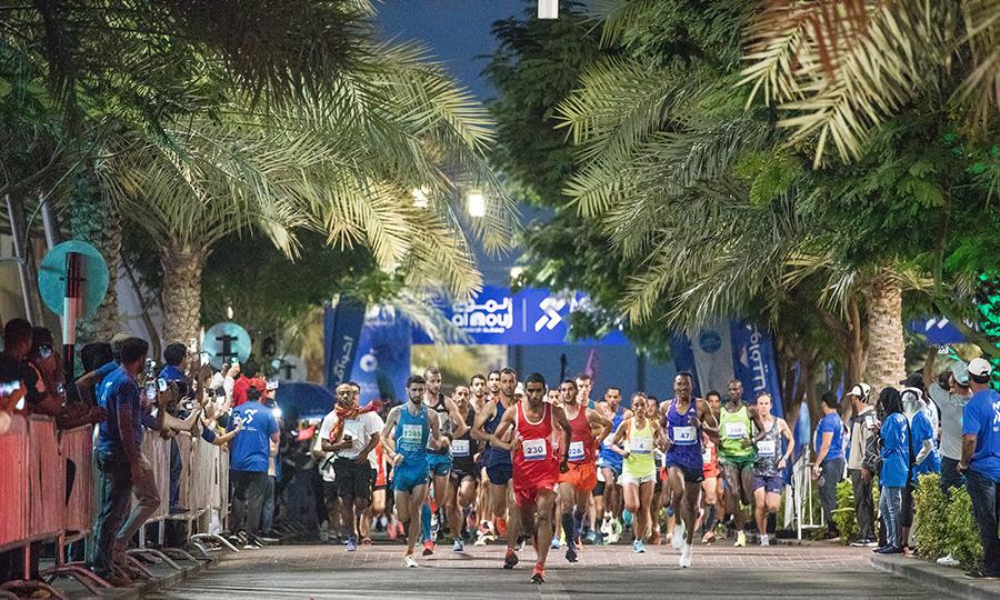 The Al Mouj Muscat Marathon 2018.Muscat. Oman.Credit: Lloyd Images