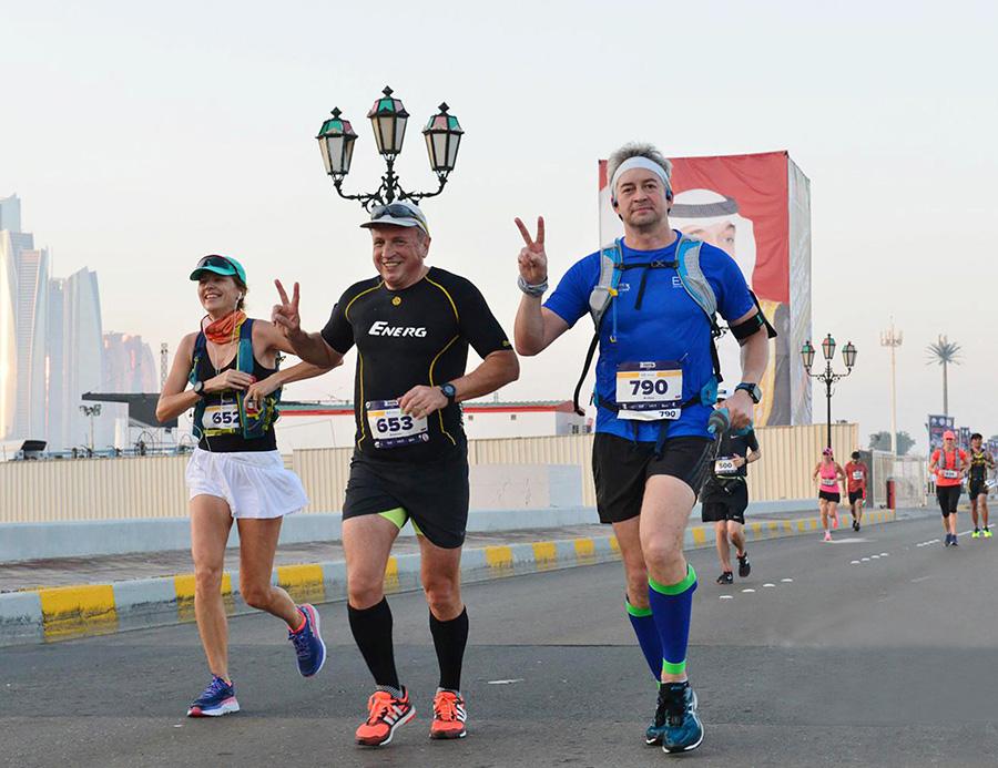 Olga, Alex and Anton in Abu Dhabi