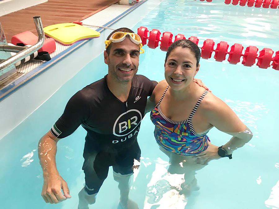 Photo with coach João