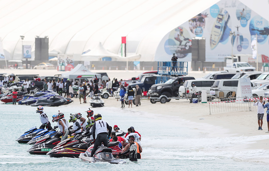 Racers get set to begin at the UAE Aquabike Championship