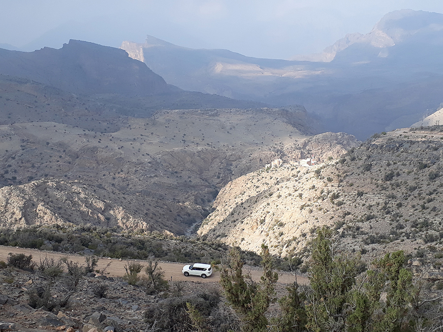 Track driving on Jebel Akhdar