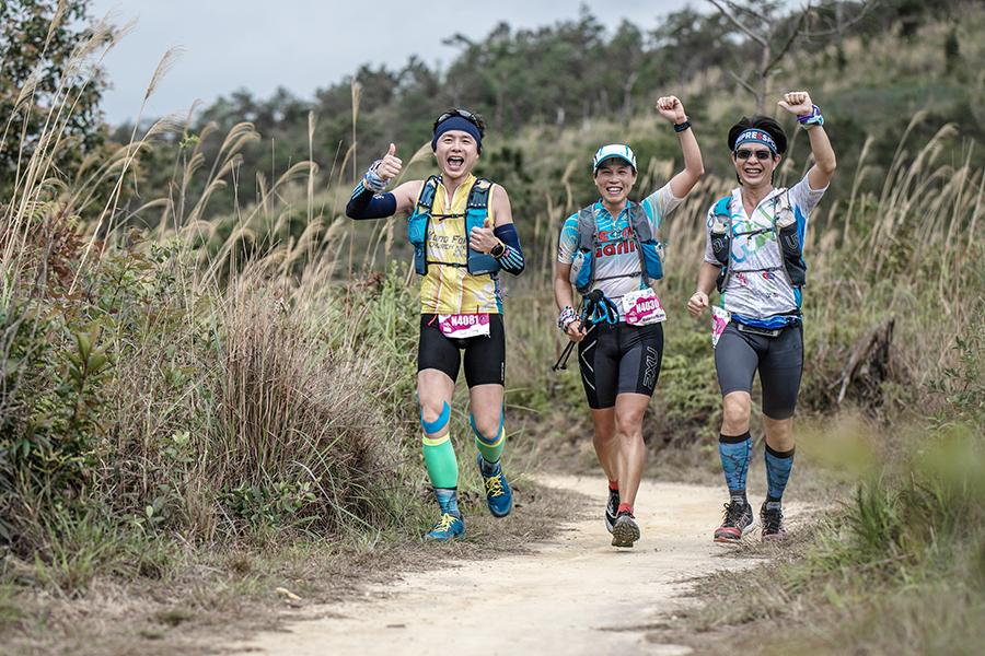 Trio enjoying the trail